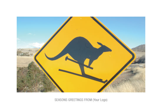 Kangaroo Ski Sign